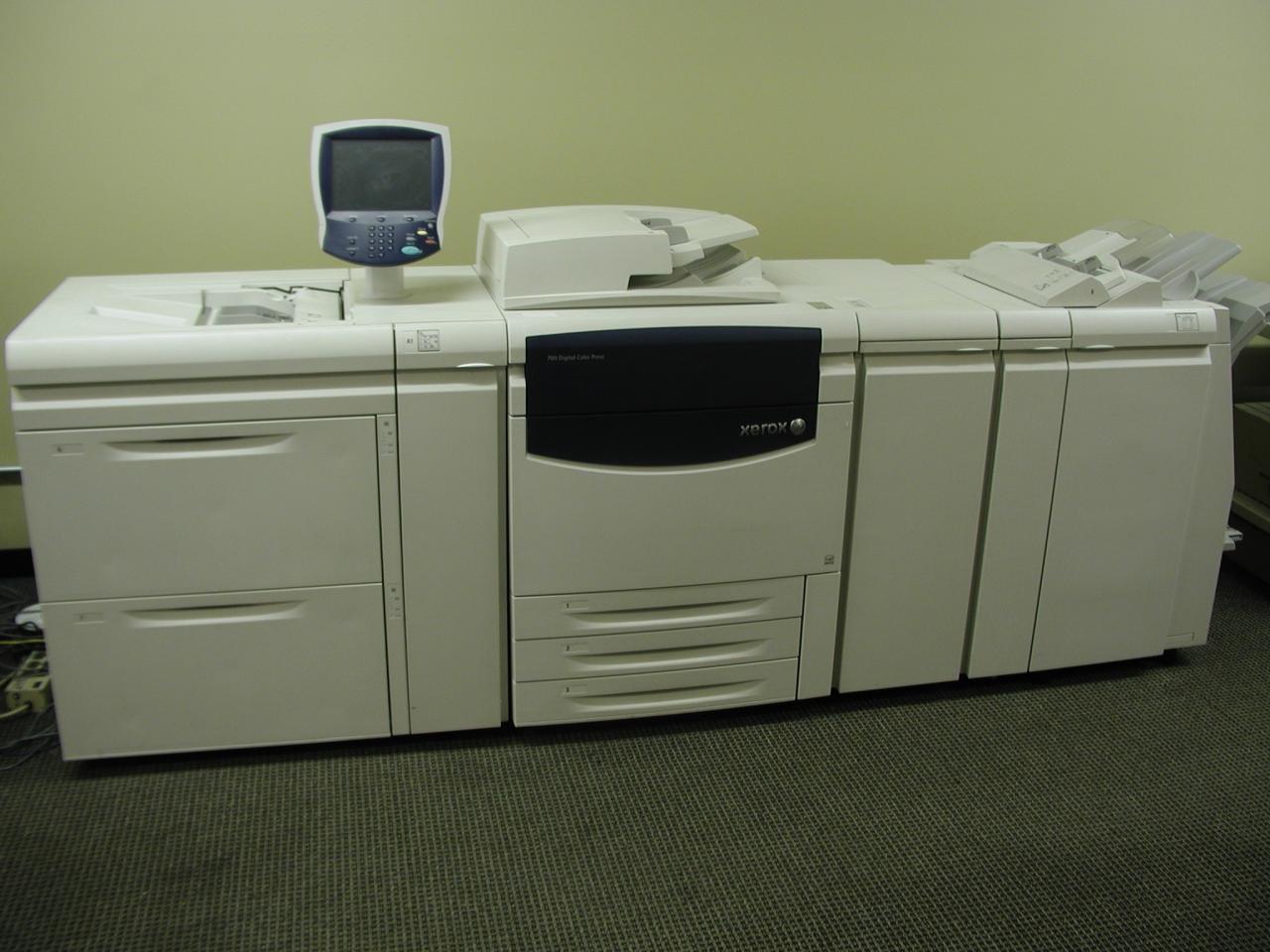 Color press printing -  Xerox 700 Digital Color Press Cx Creo Print Server 2 High