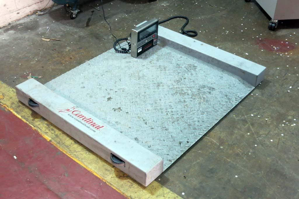 Lot 78 cardinal ruggedweigh 3 39 x 3 39 floor scale 204 for 1000 lb floor scale