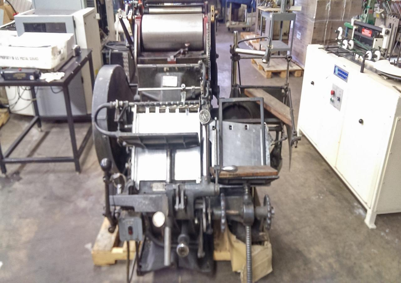 Lot 50 Thompson British Auto Platen Printing Press