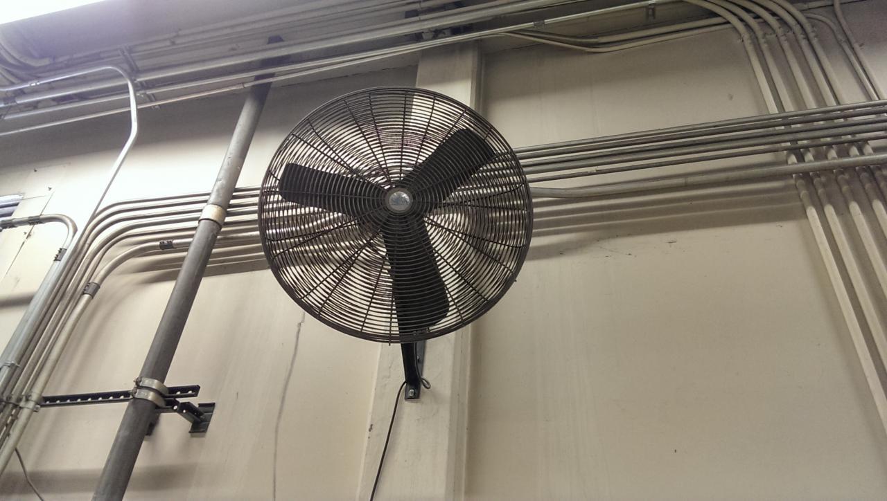 Lot 75 Dayton Wall Mounted Shop Fan Wirebids