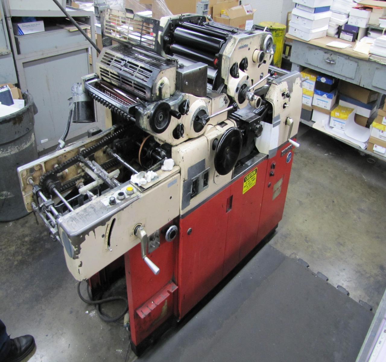 Color press printing - Hamada 665 Cd 2 Color Offset Printing Press