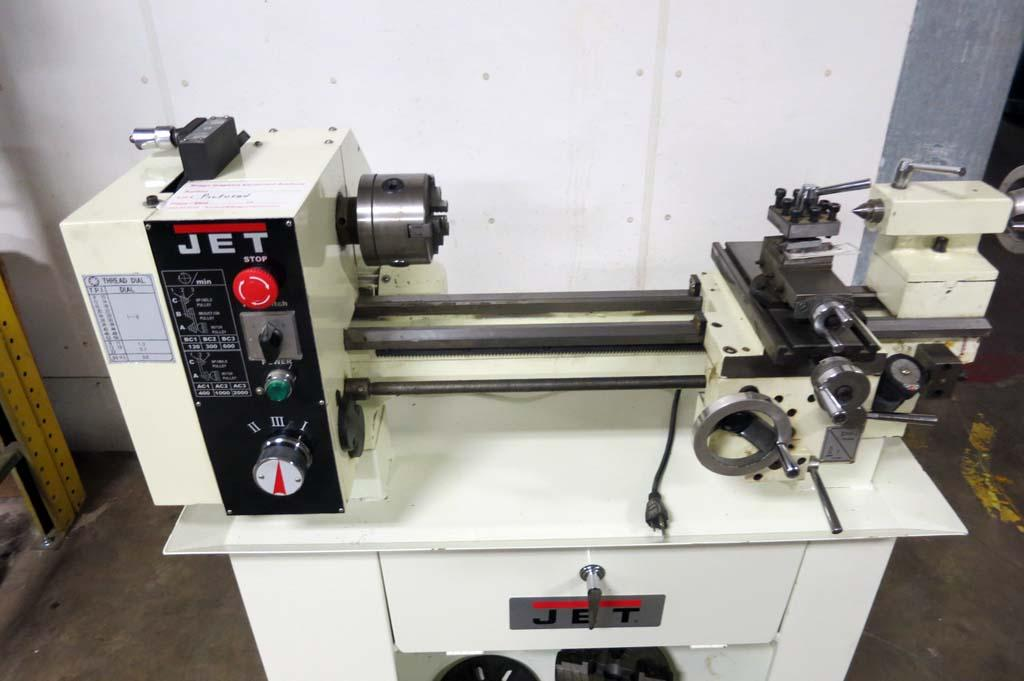 Lot 9 Jet Bd 920w Bench Metalworking Lathe W Stand