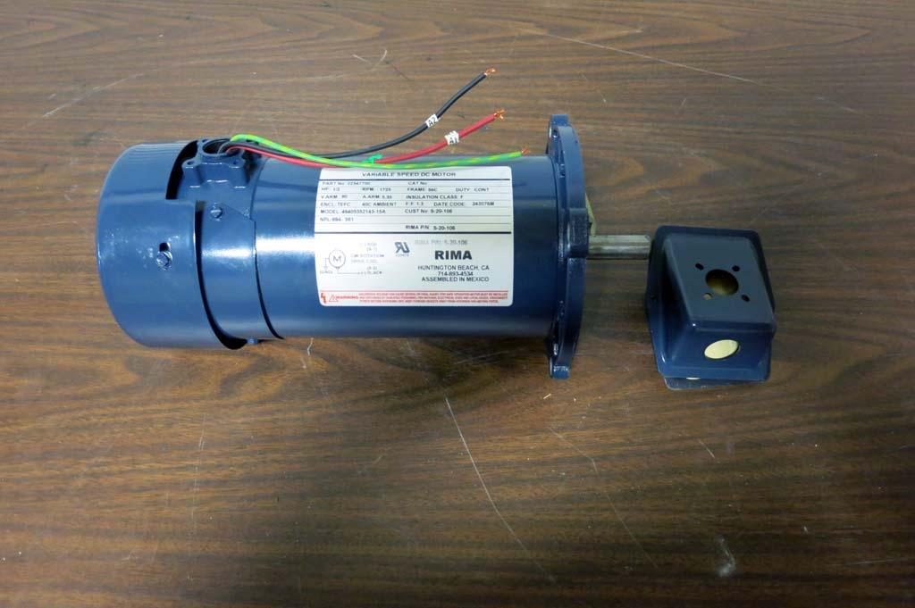 Lot 95 rima variable speed dc motor wirebids for 2 hp variable speed motor