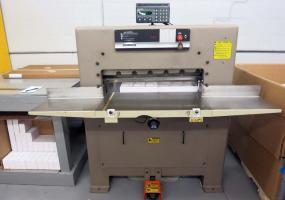 a photo of Challenge Paper Cutter MCPB - S/N 11437 - Microcut Jr.