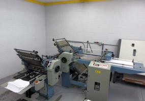a photo of Stahl B20 Paper Folder 4/4 - w/8 Page Right Angle and Roll Away Delivery - S/N 120MH0066
