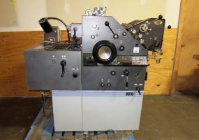 a photo of AB Dick 9970 Offset Two Color Printing Press with Townsend AE T-Head