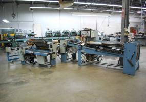"a photo of MBO 26"" x 40"" Continuous Feed Paper Folder w/ 8 page, 16 Page, and Stacker"