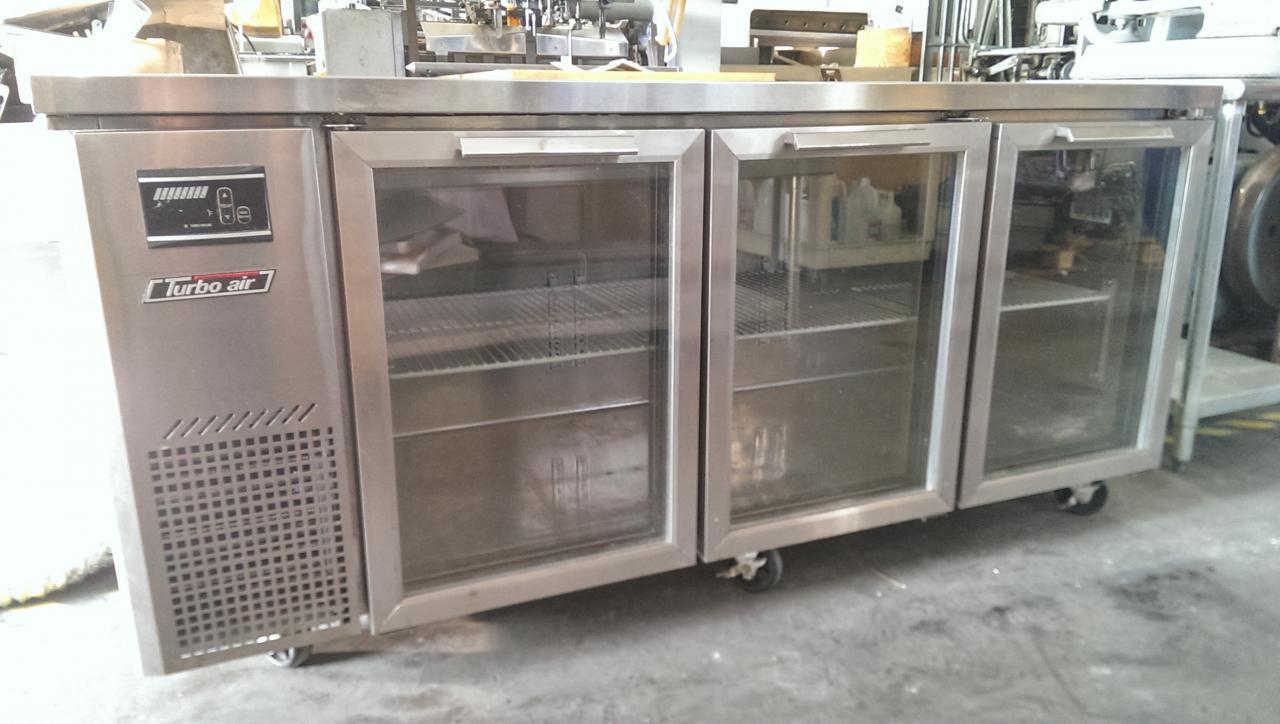 Lot #3: Turbo Air JUR-72-G Glass Door Undercounter Refrigerator 72 ...