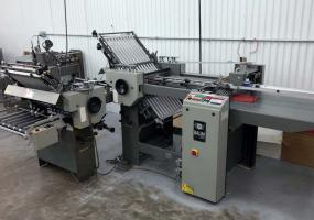 a photo of 1999 Baum 2020 Pile Feed Paper Folder w/ 8 Page 2nd Folding Station