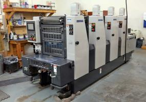 """a photo of 2004 Shinohara 52IVP Four Color 14"""" x 20"""" Offset Printing Press w/ Console, Royce Recirculation, and ONLY 23 Million Impressions"""