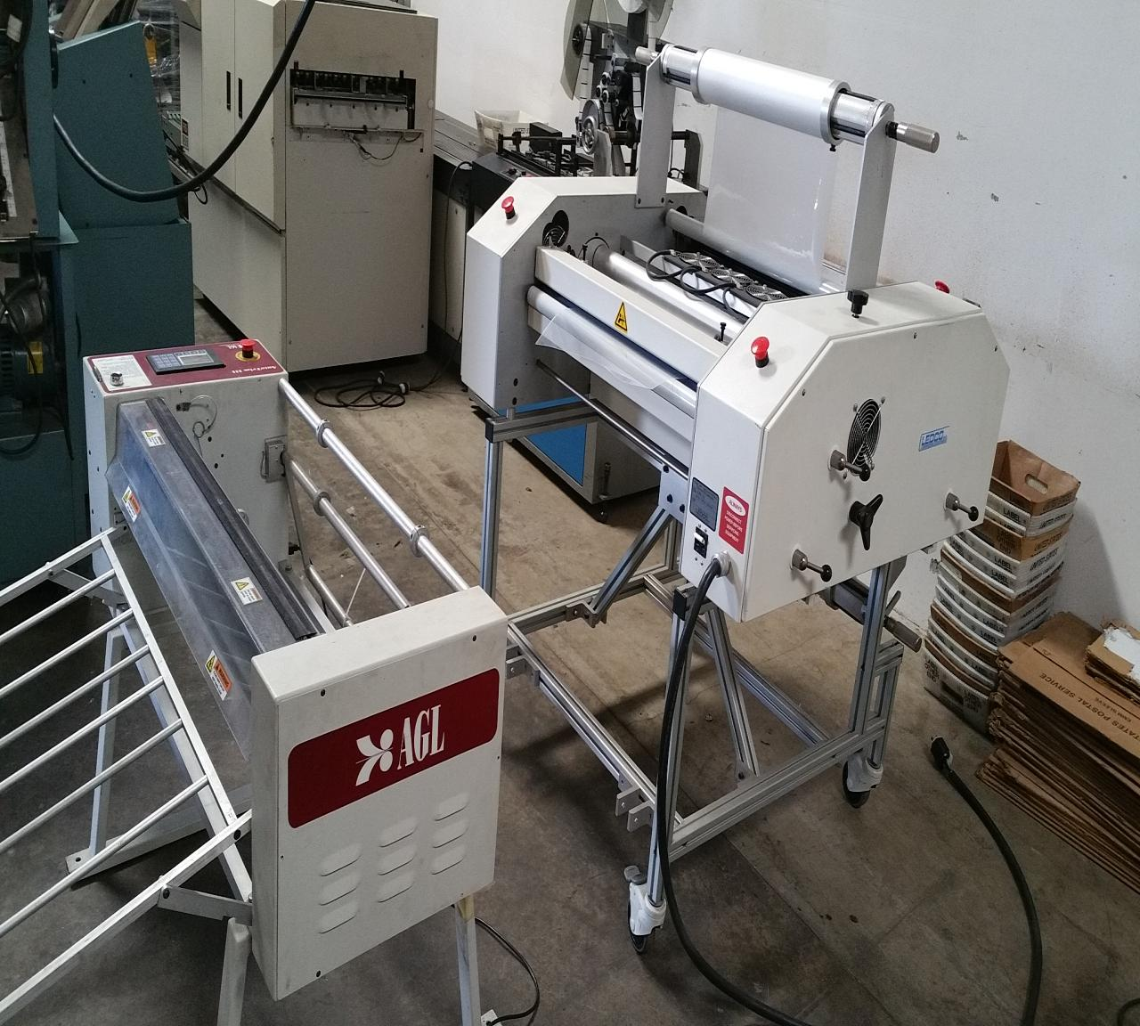 Lot 8 Ledco High Speed I30 Thermal Roll Laminator With