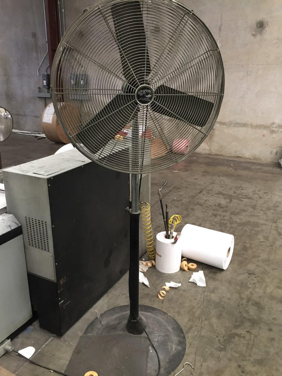 Heavy Duty Fan : Lot industrial heavy duty high velocity pedestal shop