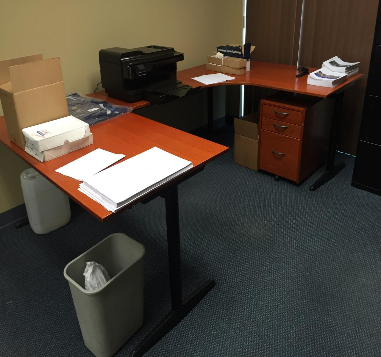 U Shaped Office Desk For Two