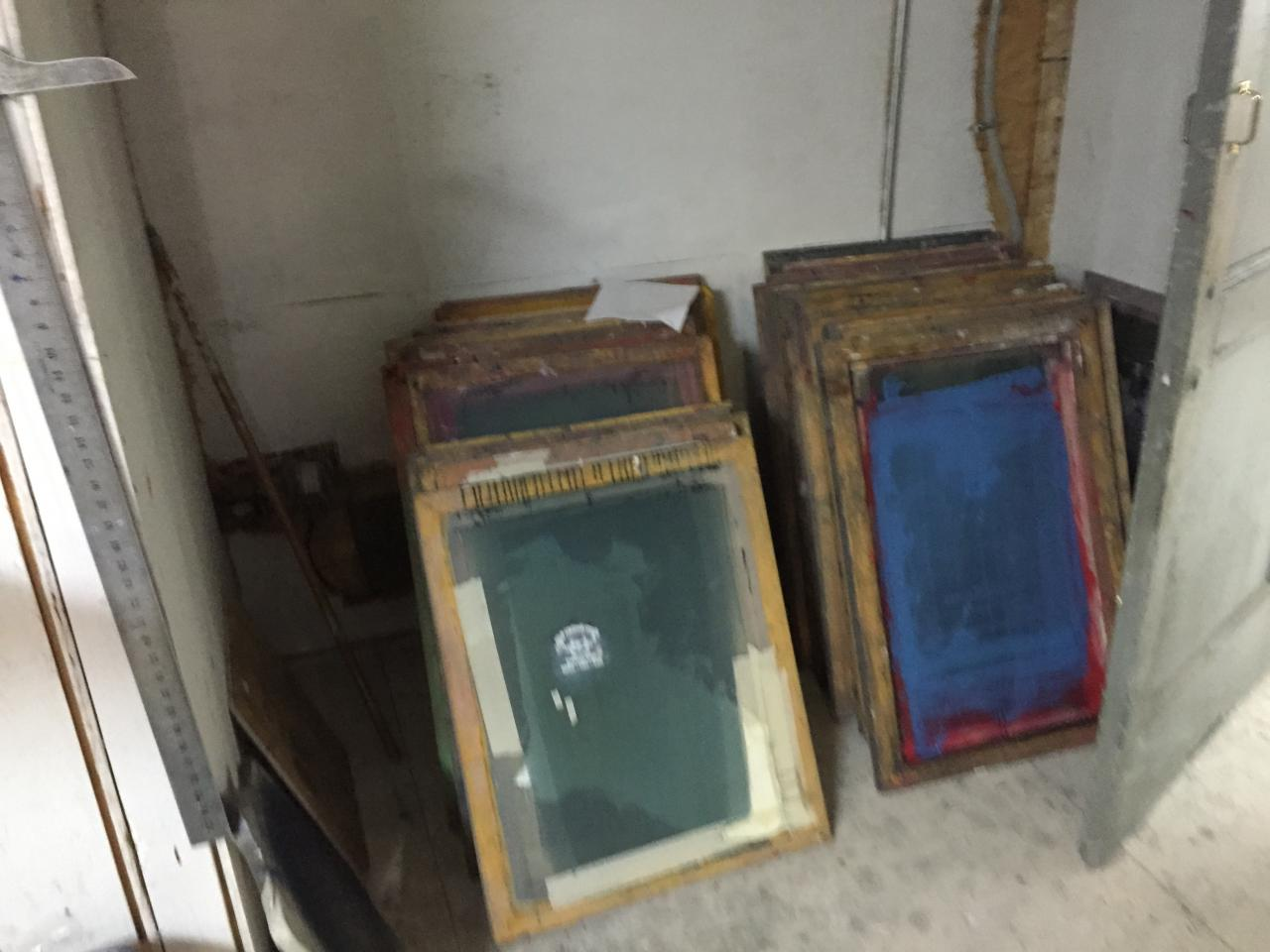 Lot 24 A Large Collection Of Screen Printing Frames