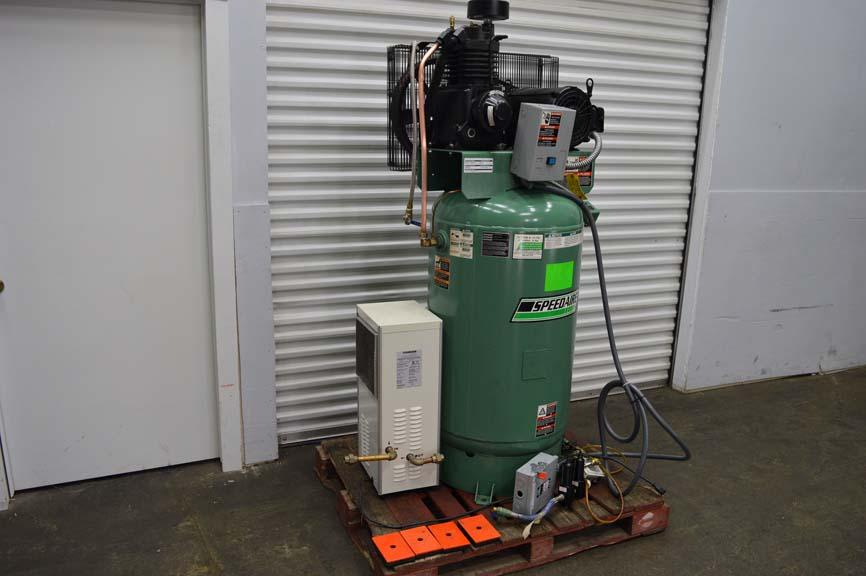 Lot 1 Speedaire 7 5 Hp Air Compressor W 80 Gallon Tank