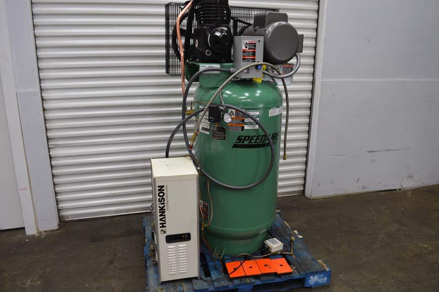 Lot 50 Speedaire 7 5 Hp Single Phase Air Compressor W