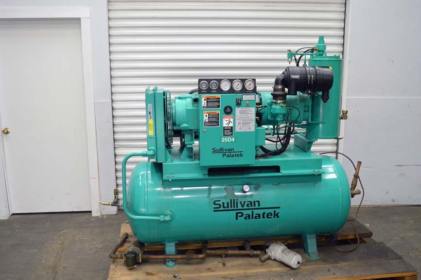 Lot 23 sullivan palatek 25hp air compressor wirebids for Air motors and drives llc
