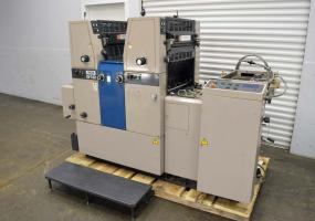 a photo of Ryobi 512 Two Color Offset Printing Press w/ Crestlines and Royse Refrigerated Chilling
