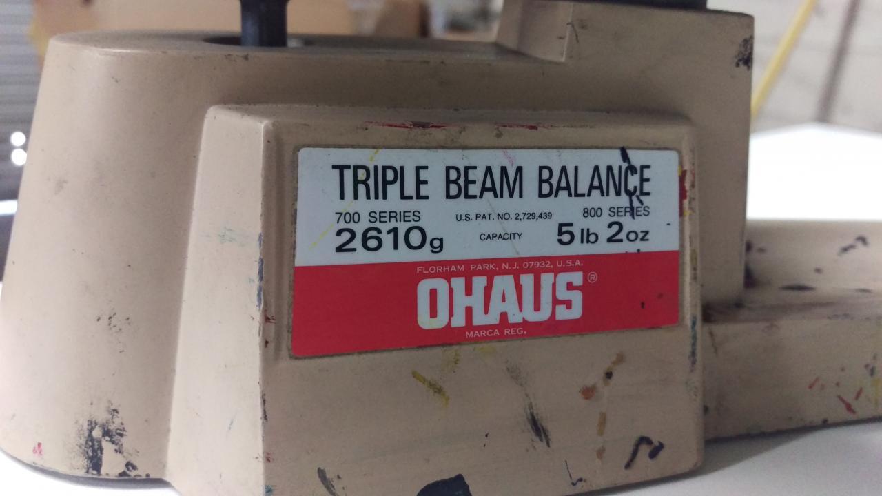 Lot 57 Ohaus 700 800 Triple Beam Balance Ink Scale