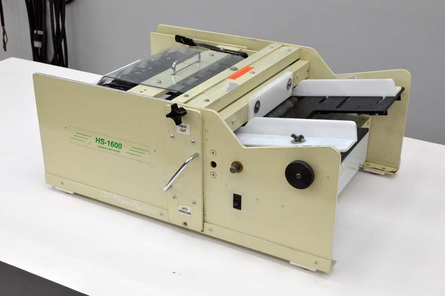 Lot #109: RB Sun HS-1600 Business Card Slitter / Cutter (Ships from ...