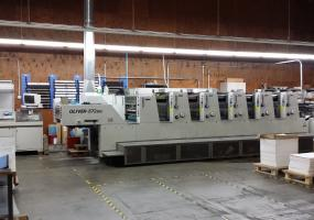 a photo of Sakurai 572 EDII 5-Color Press - Rebuilt Delivery - West Sacramento, CA