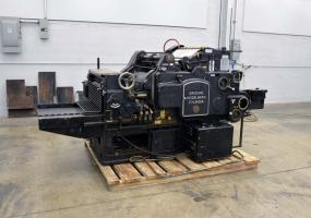"a photo of HEIDELBERG CYLINDER MODEL ""S"" DIE CUTTER 21″ X 28″ – W/ INKER"