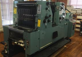 a photo of Oliver Sakurai 2 Color Offset Press with Conventional Dampening System - Dallas, NC