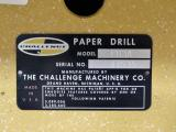 1978 Challenge EH3A Three Hole Paper Drill
