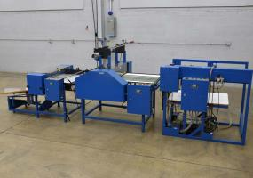 """a photo of D&K Accumlam Jr One Sided Laminating System 27"""" x 30"""" with Pile Feed and Flying Knife Cutter - Click Here for Video!"""