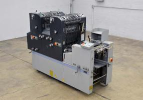 a photo of 2007 Ryobi 3302 (AB Dick 9995) Series 2-Color Press with Baldwin Recirculating Chiller