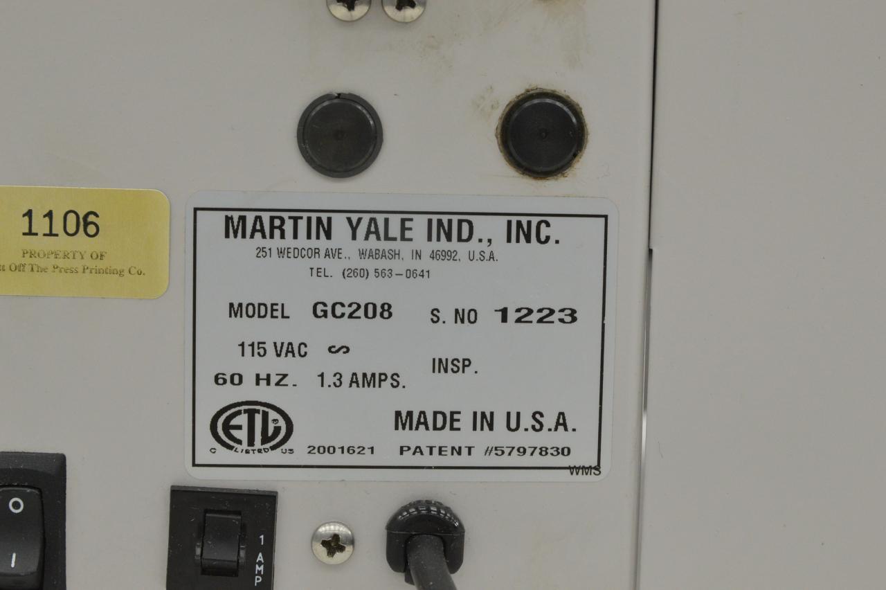 Lot #80: Martin Yale GC208 Gutter-Cut Business Card Slitter - WireBids