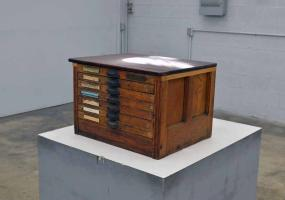 a photo of Hamilton Type Cabinet - 100 Years Old