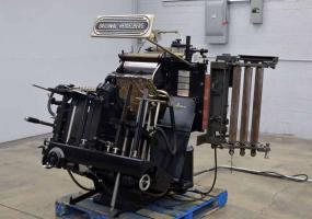 1977 Original Heidelberg Windmill Letterpress with Lockout Rollers and Foil