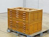 a photo of Hamilton Wood Flat Filing Cabinets #2