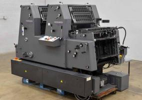a photo of 2000 Heidelberg Printmaster 52-2 GTO Two Color Offset Printing Press - Only 178K Impressions