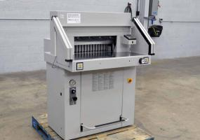 2008 MBM Triumph Ideal 5551-EP Hydraulic Paper Cutter - Click for Video!