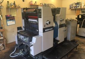 Ryobi 522 Two Color Press with Standard Damps, Recirculator, Accel Tempest Dryer, Plate Punch Included - Chattanooga TN