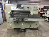 a photo of Polar 115 CE Paper Cutter with Safety Beams - Kewaskum, WI - Click for Video!