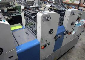 a photo of Ryobi 3304H Four Color Press with Ryobimatics Dampening - Approximate Year 1998 - Click for Video! - 13 x 17 -