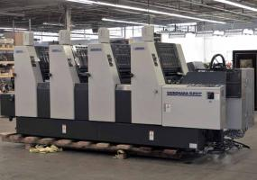 "a photo of 2001 Shinohara 52IVP Four Color 14"" x 20"" Offset Printing Press - Click for Video!"