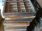 a photo of 30 Empty Hand Set Type Drawers - Lot A - Santa Rosa, CA