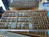 a photo of 30 Empty Hand Set Type Drawers - Lot B - Santa Rosa, CA