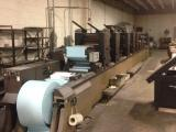 a photo of 1986 Didde Web Press Model 205 5-Unit 17.5 x 22 Offset Press with Roll Stand, Punch Unit, Perf Unit, Sheeter, Fan Folder, Turn Bar and Jogger with Ingersol Rand T 30 Air Compressor - Richmond, VA
