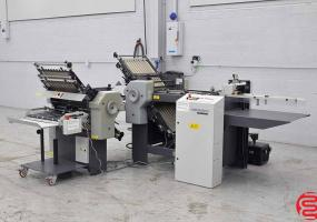 a photo of 2005 Stahl B20 Pile Feed Paper Folder with 8 Page Unit and Mobile Delivery - Low Use Rollers - Click for Video!