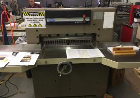 Challenge 305 MC Paper Cutter with Digital Display, Manual Back Gauge, Blade Changing Tools, Large Side Tables