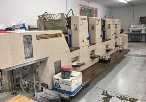 1991 Shinohara 66 IVPK Four Color Offset Press with Console - Click for Video!