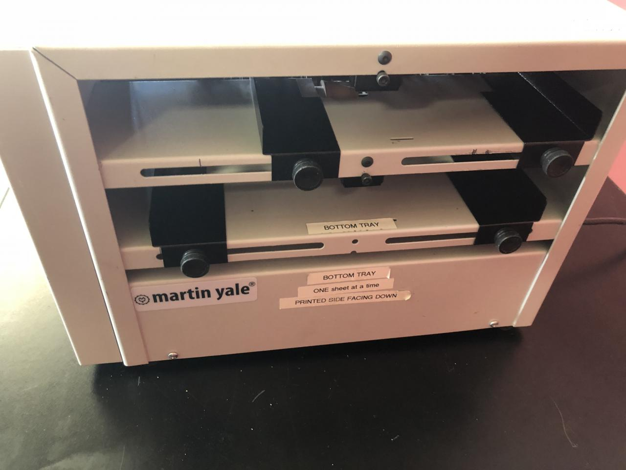 Lot #26: Martin Yale BCS212 Business Card Slitter - Click for Video ...