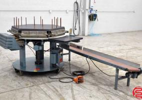 a photo of Brackett CPM1C Circular Padding Machine with Conveyor