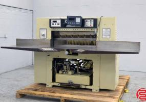 """a photo of Challenge 420 TCM Programmable Hydraulic 42"""" Paper Cutter with MicroCut Jr - Click for Video!"""