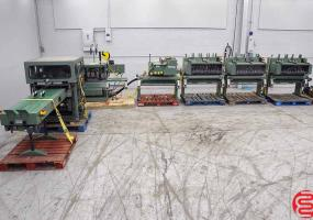 a photo of Muller Martini Minuteman 1509 Saddle Stitcher with Trimmer, 6 Pocket and Cover Feed - Completely Rebuilt by Muller Martini 2014 - Click for Video!